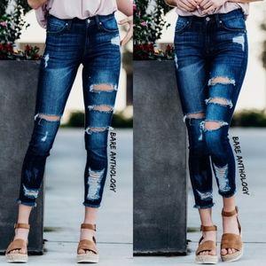 Denim - BERNICE distressed skinny Jeans